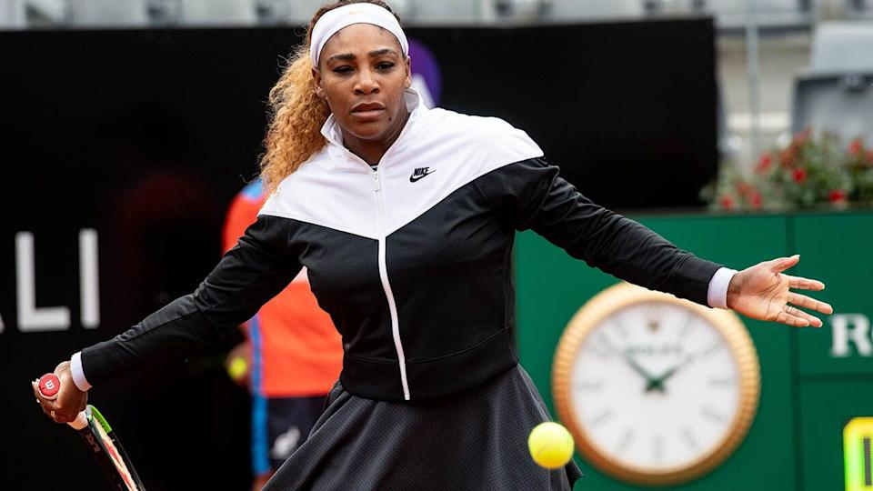 Serena Williams in action. (Photo by Giuseppe Maffia/NurPhoto via Getty Images)