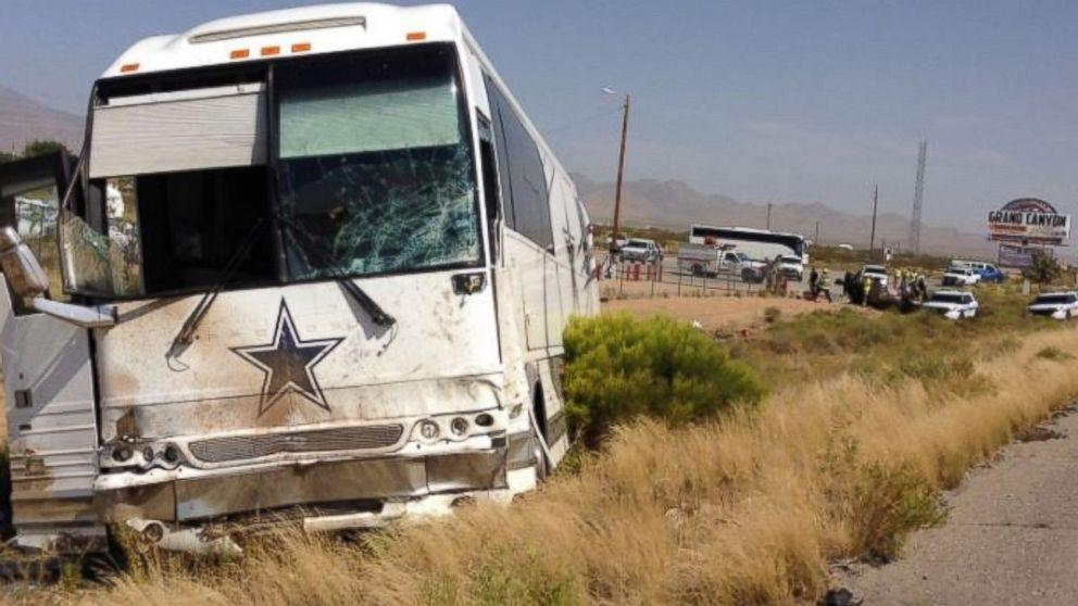 Crash Involving Dallas Cowboys Bus Kills 4 in Arizona (ABC News)