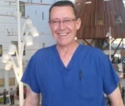Graham Sabino, a clinical perfusionist who returned to the NHS from retirement to help out during the coronavirus crisis