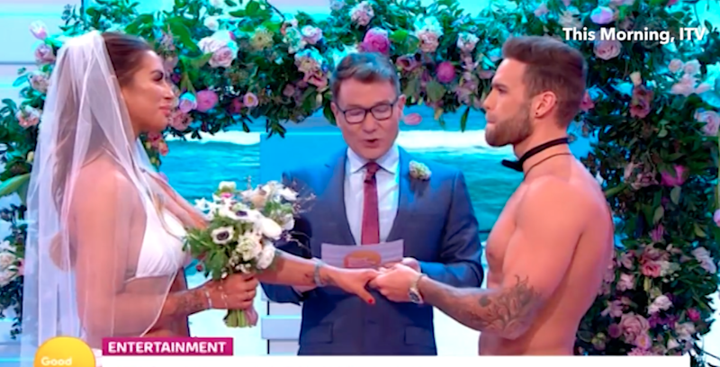 Jess and Dom get married on Good Morning Britain. Photo: ITV