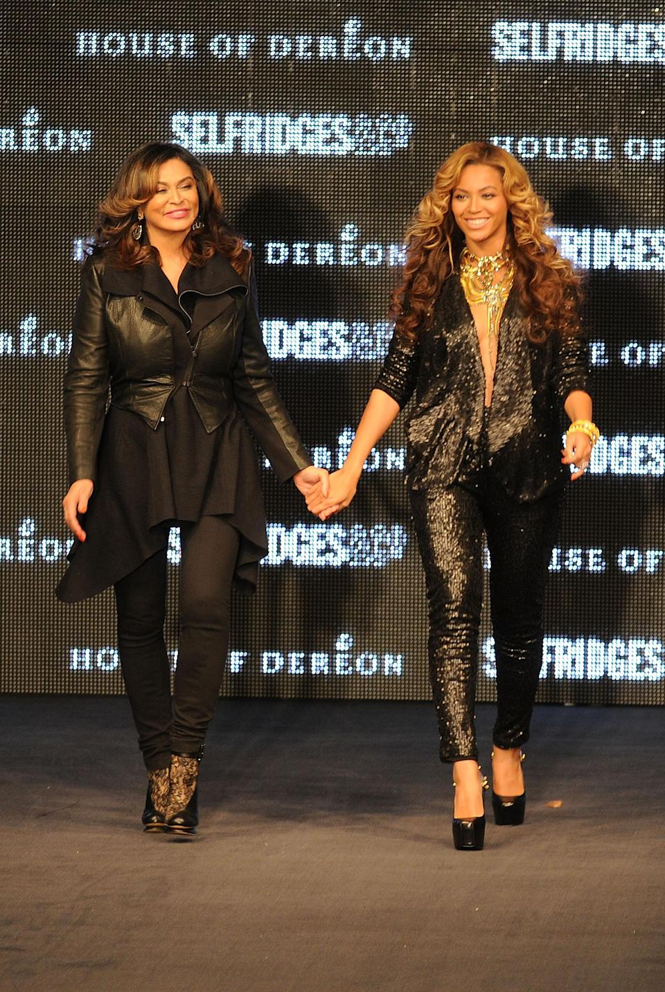 """Beyoncé and her mother Tina Knowles launched House of Deréon in 2004. The ready-to-wear line included everything from jeans to evening gowns. Its tagline was """"Couture. Kick. Soul."""" It shuttered in 2012, though Beyoncé now has a successful line with Adidas, titled Ivy Park."""
