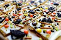 """<p>Just as peppermint bark is a Christmas staple, this Halloween bark will be a staple at your Halloween parties for years to come. </p><p><strong><em>Get the recipe at <a href=""""https://www.thepioneerwoman.com/food-cooking/recipes/a11667/halloween-bark/"""" rel=""""nofollow noopener"""" target=""""_blank"""" data-ylk=""""slk:The Pioneer Woman"""" class=""""link rapid-noclick-resp"""">The Pioneer Woman</a>. </em></strong></p>"""