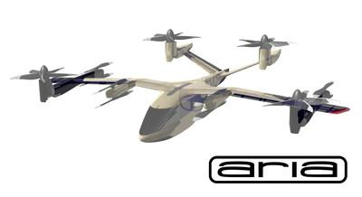 A rendering of Hyundai Motor's SA-1 Personal Air Vehicle, designed and built by Aria Group for Hyundai and Uber Elevate.