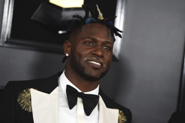 Antonio Brown at the 61st annual Grammy Awards. (AP)