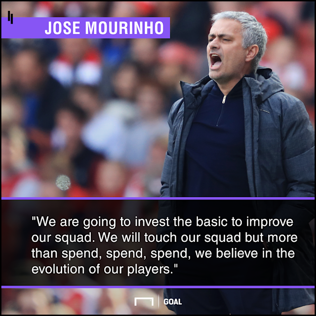 The Red Devils boss has already identified the areas of his squad that he intends to strengthen, but has suggested there will be no elaborate rebuild