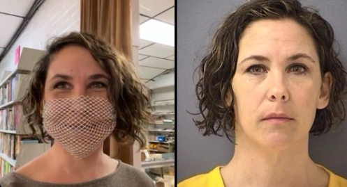 Rachel Powell, one of the alleged Capitol rioters, apologised to a judge after she was ordered to wear a face mask but instead wore a mesh covering.  (Twitter screen grab)