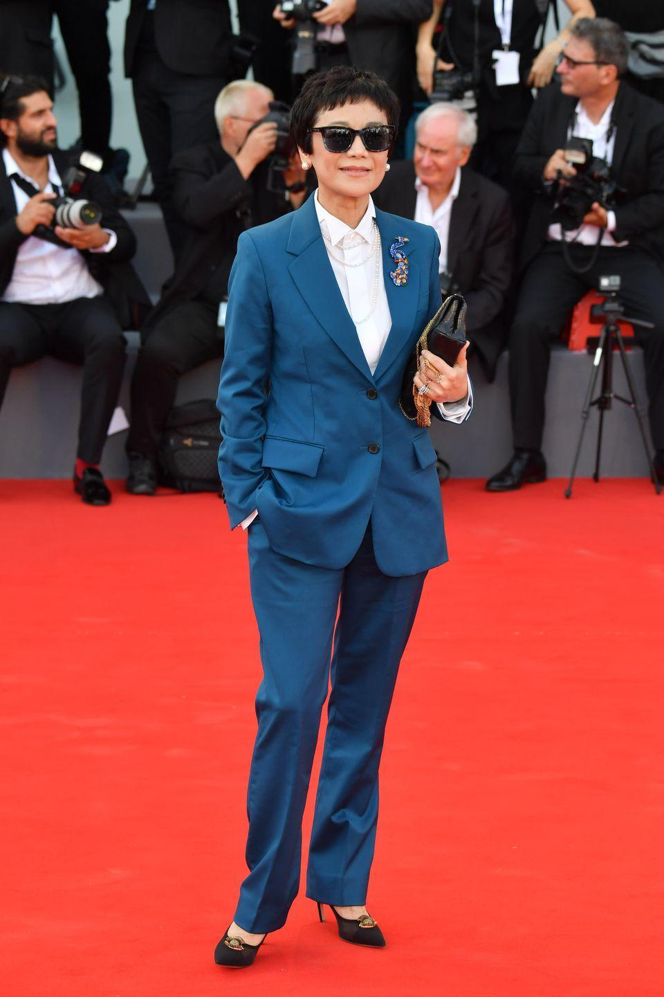 <p>At the film festival opening ceremony and screening of<em> First Man.</em></p>