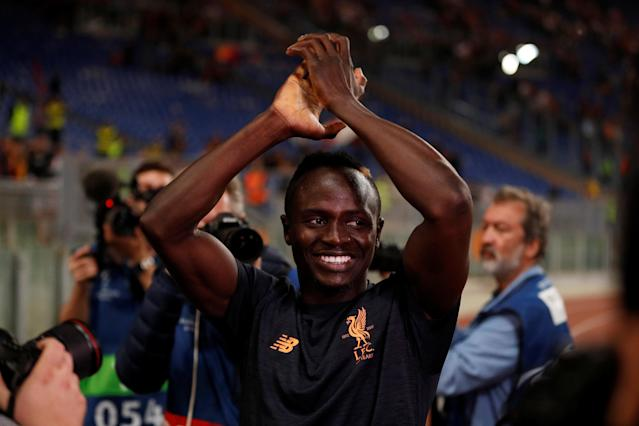 Soccer Football - Champions League Semi Final Second Leg - AS Roma v Liverpool - Stadio Olimpico, Rome, Italy - May 2, 2018 Liverpool's Sadio Mane celebrates after the match Action Images via Reuters/John Sibley