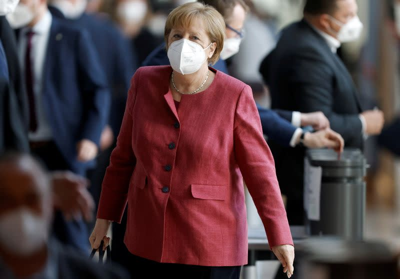 Bundestag discusses additions for the Infection Protection Act amid COVID-19 pandemic, in Berlin