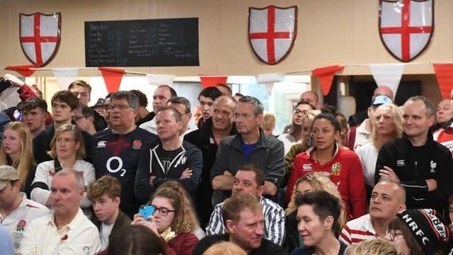 It wasn't meant to be – scenes at Harpenden Rugby Club, St Albans (Joe Giddens/PA)