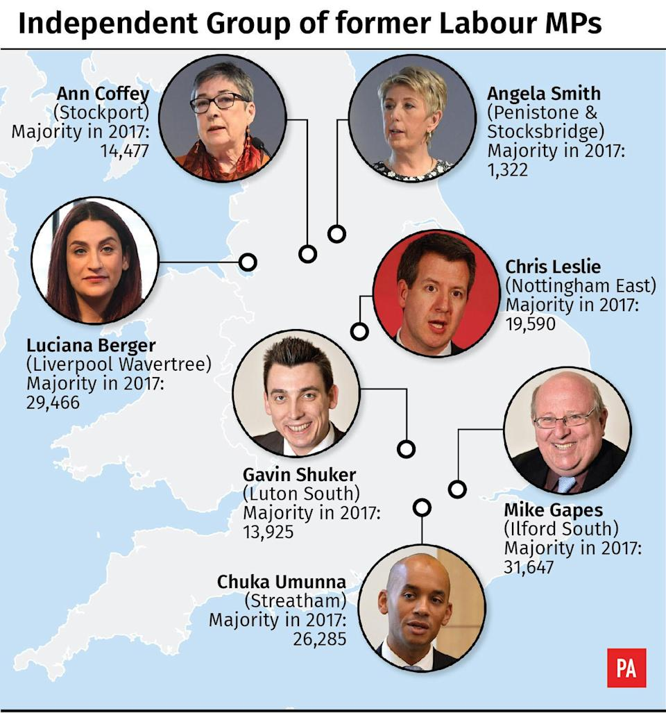 Independent Group MPs (PA)
