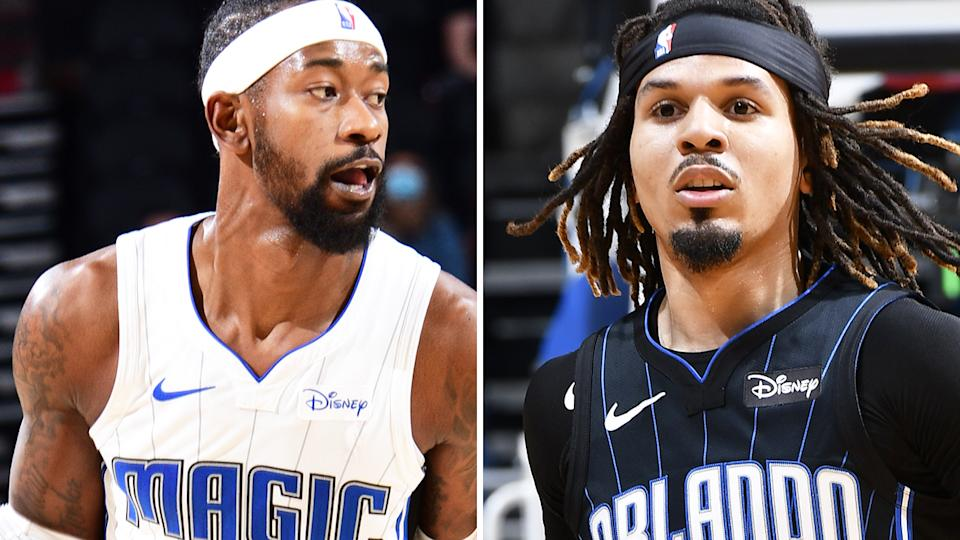 Orlando Magic guards Terrence Ross and Cole Anthony are two relatively commonly available players who could boost your fantasy team. Pictures: Getty Images