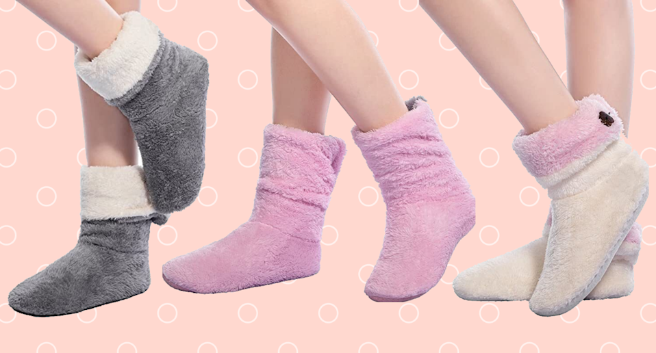 These comfy slipper socks are the perfect addition to your winter wardrobe.