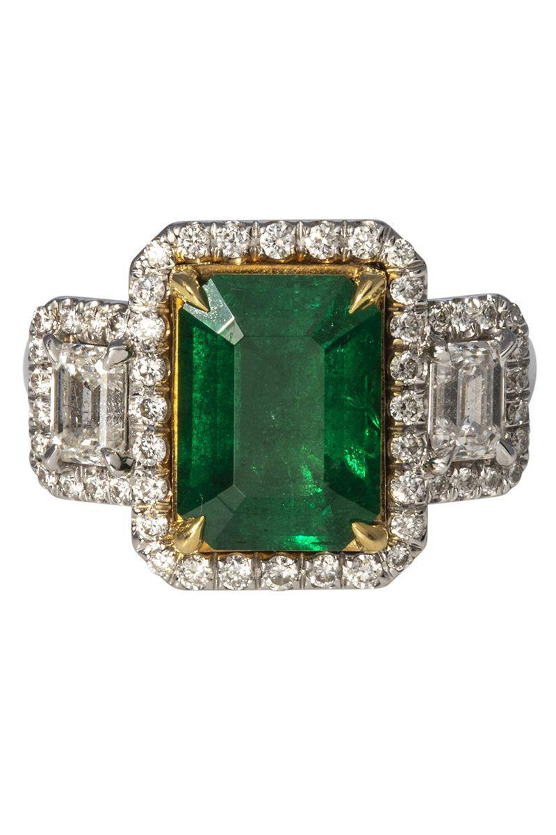 "<p><em><strong>Croghan's Jewel Box</strong> Estate Emerald-Cut Emerald & Diamond 18K Gold Ring, $19,550, <a href=""https://www.croghansjewelbox.com/collections/estate-jewelry-rings/products/estate-emerald-cut-emerald-diamond-18k-gold-ring"" rel=""nofollow noopener"" target=""_blank"" data-ylk=""slk:croghansjewelbox.com"" class=""link rapid-noclick-resp"">croghansjewelbox.com</a></em></p><p><a class=""link rapid-noclick-resp"" href=""https://www.croghansjewelbox.com/collections/estate-jewelry-rings/products/estate-emerald-cut-emerald-diamond-18k-gold-ring"" rel=""nofollow noopener"" target=""_blank"" data-ylk=""slk:SHOP"">SHOP</a></p>"