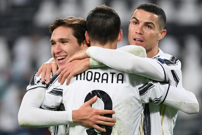 Cristiano Ronaldo (R), Alvaro Morata (C), Federico Chiesa (L) were all on target in the Champions League midweek