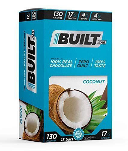 """<p><strong>Built Brands</strong></p><p>amazon.com</p><p><strong>$38.70</strong></p><p><a href=""""https://www.amazon.com/dp/B08DCT1LM5?tag=syn-yahoo-20&ascsubtag=%5Bartid%7C2139.g.36650631%5Bsrc%7Cyahoo-us"""" rel=""""nofollow noopener"""" target=""""_blank"""" data-ylk=""""slk:Shop Now"""" class=""""link rapid-noclick-resp"""">Shop Now</a></p><p>Built bars claim to differ from the gritty, artificial taste you may associate with protein bars. Each chocolate flavor has 4 net carbs and roughly 18 grams of protein. For low-carb dieters who want """"zero guilt"""" protein, look no further.</p>"""