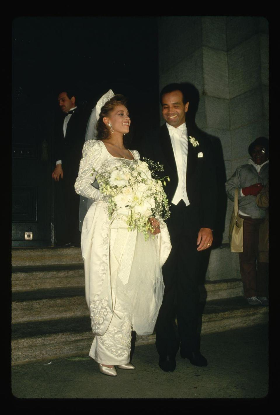 <p>Ramon Hervey II, a public relations specialist, was hired to save Vanessa Williams's career after publicized nude photos of her forced her to resign as Miss America in 1984. The two married on January 2, 1987. The couple had three children and divorced in 1997. Williams would remarry twice.</p>