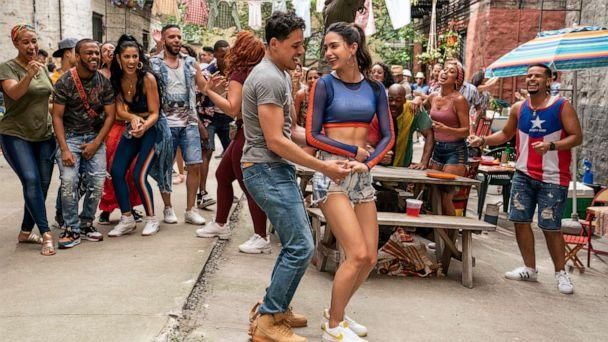 PHOTO: Anthony Ramos as Usnavi and Melissa Barrera as Vanessa in a scene from 'In the Heights.' (Macall Polay/Warner Bros.)