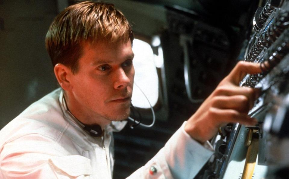 <p>Once again, Bacon proved a key component of a sterling ensemble cast, topped by Tom Hanks, in Ron Howard's acclaimed drama based around the true events of NASA's catastrophic Apollo 13 mission. (Picture credit: Universal) </p>