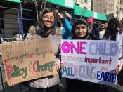 <p>Two young girls show their signs in NYC. (Photo: Laura Kenney for Yahoo Lifestyle) </p>