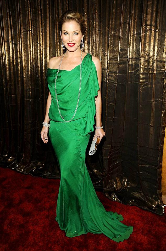 """January: Christina Applegate   The former """"Samantha Who?"""" star injected the Screen Actors Guild Awards with some much-needed glamour when she arrived in this gorgeous green Emanuel Ungaro dress and Lorraine Schwartz jewels. Kevin Mazur/<a href=""""http://www.wireimage.com"""" target=""""new"""">WireImage.com</a> - January 25, 2009"""