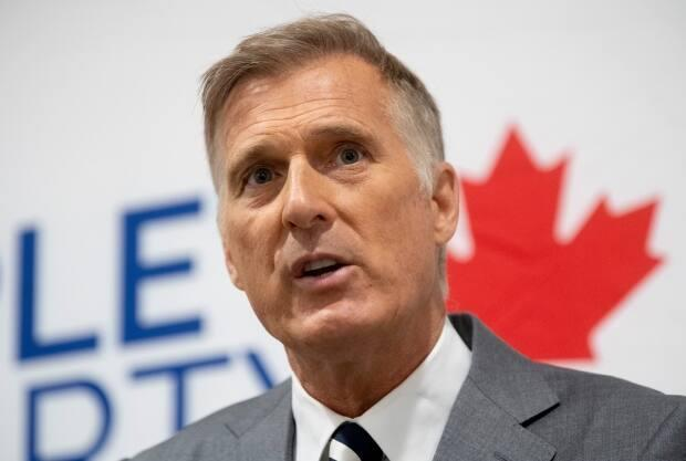 Maxime Bernier responds to a question during a news conference in Ottawa on Monday, August 24, 2020. (Adrian Wyld / Canadian Press - image credit)