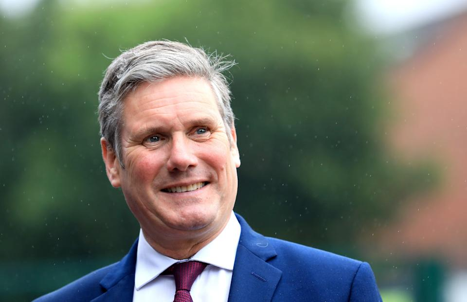 Sir Keir Starmer dismissed a pledge to provide a named officer for crime victims as a gimmick (Peter Morrison/PA) (PA Wire)