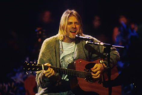 <p>Kurt Cobain during the taping of <em>MTV Unplugged</em> at Sony Studios in New York City in 1993. </p>