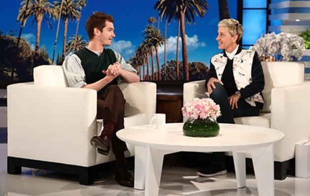 Ellen asked Andrew to perform a backflip so she can donate $38,000 to Breast Cancer during Breast Cancer Awareness month. Source: Michael Rozman / Warner Bros.