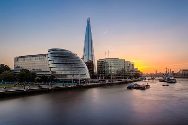 London City Hall by River Thames at sunset, UK.