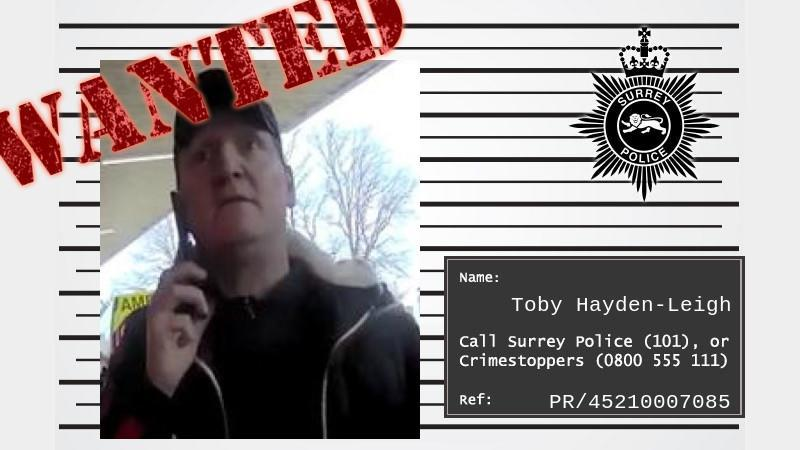 Tobe Hayden Leigh is being sought in connection with an incident at East Surrey Hospital in Redhill (Surrey Police/PA)
