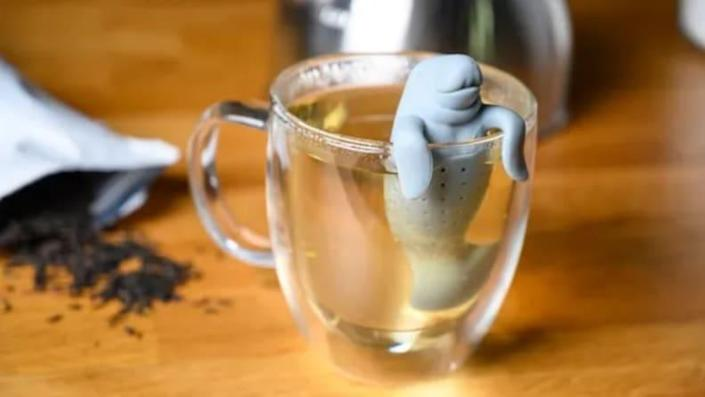 This silicone tea infuser makes for an adorable addition to any morning brew.