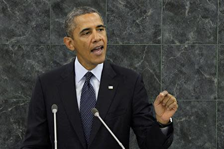 United States President Barack Obama addresses the 68th United Nations General Assembly in New York