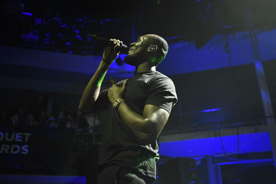 Photo by: zz/KGC-138/STAR MAX/IPx 2020 1/20/20 Stormzy performing in concert on January 20, 2020 at The Rose Theatre Kingston in Kingston upon Thames, London, England, UK.