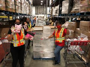 Rogers employees volunteered at the Greater Vancouver Food Bank as part of the Step Up to the Plate initiative with Food Banks Canada. Through food hampers provided to food banks across the province, the initiative will see more than 1.3 million meals for 63,000 British Columbians in need.