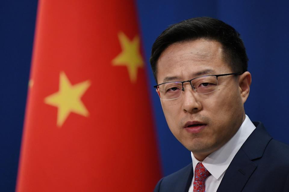 Chinese Foreign Ministry spokesman Zhao Lijian is pictured.