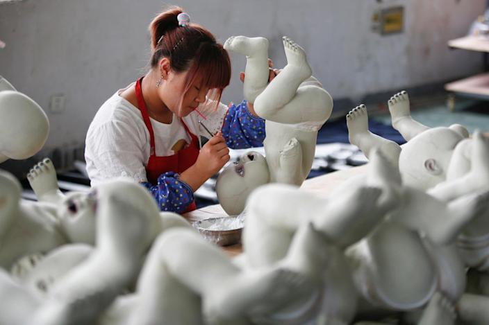 Painting a doll