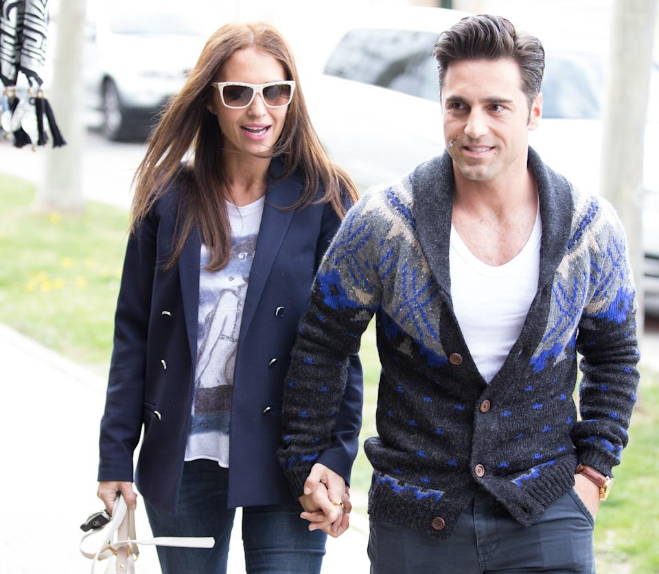MADRID, SPAIN - MARCH 25:  Singer David Bustamante and actress Paula Echevarria are seen on March 25, 2014 in Madrid, Spain.  (Photo by Europa Press/Europa Press via Getty Images)