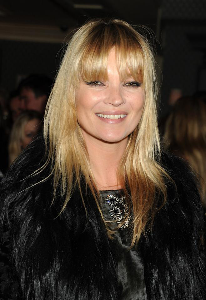 """When Kate Moss changes her hair, she makes headlines -- and then everyone else copies her, or so it seems. While other stars are opting for shorter cuts, Moss did the opposite by snipping bangs and layers that seem more """"bedhead"""" than """"bombshell."""" The British model creates trends by defying them, so we'll see how long it takes for other fashionistas to follow suit. Dave M. Benett/<a href=""""http://www.gettyimages.com/"""" target=""""new"""">GettyImages.com</a> - October 19, 2010"""