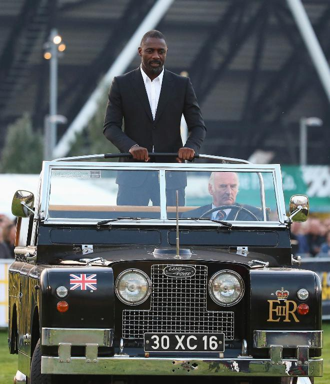 British actor Idris Elba arrives to read the Invictus Poem during the opening ceremony of the Invictus Games in London on September 10, 2014