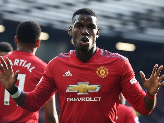Manchester United's Paul Pogba celebrates (AFP/Getty Images)