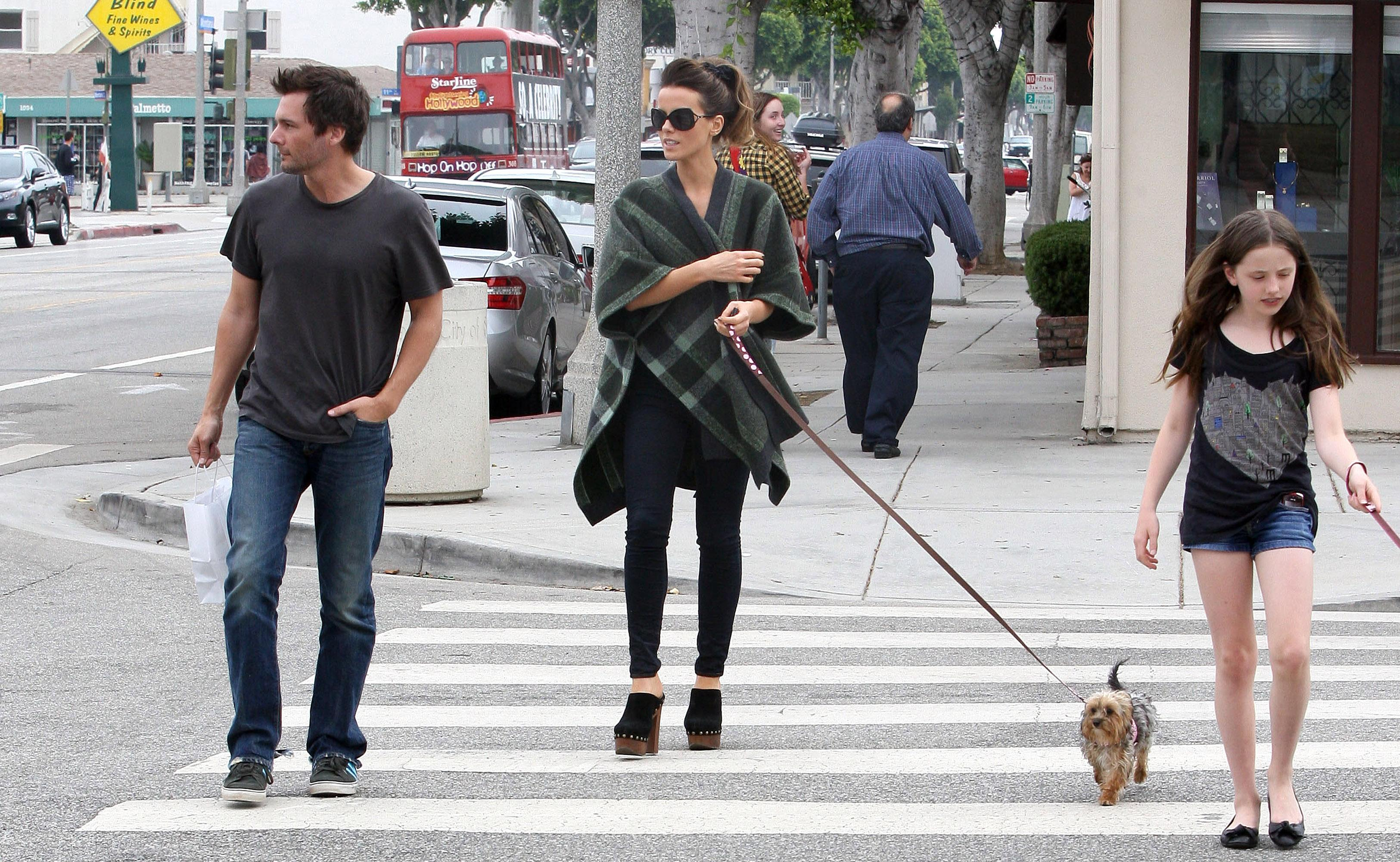 (L-R) Len Wiseman, Kate Beckinsale and Lily Mo Sheen are seen on July 31, 2010 in Los Angeles, California.