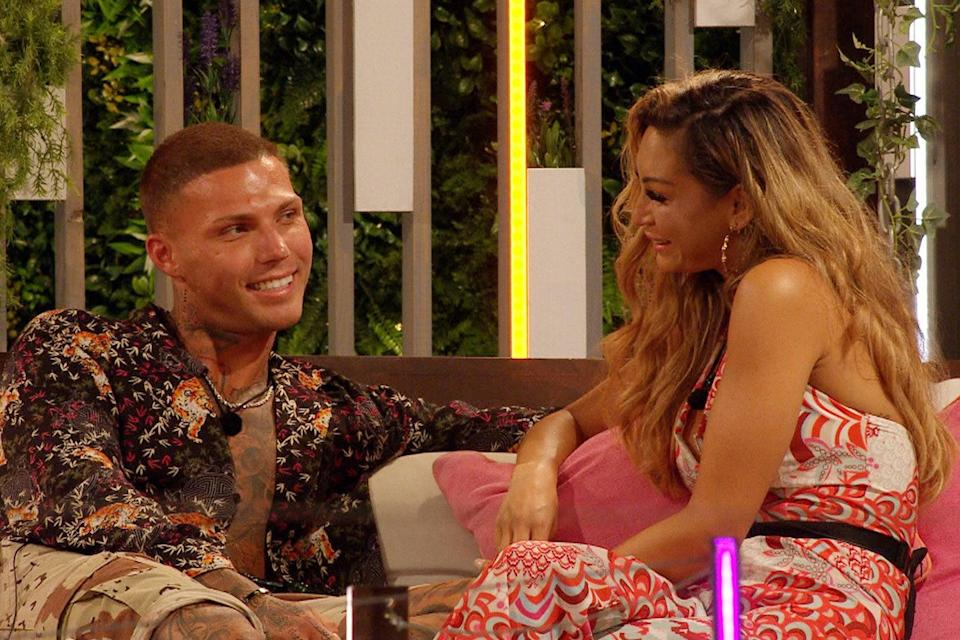 Danny Bibby initially coupled up with Lucinda Strafford on the show (ITV)