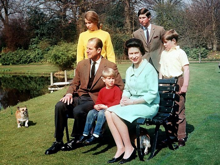 The Royal Family together in 1968PA
