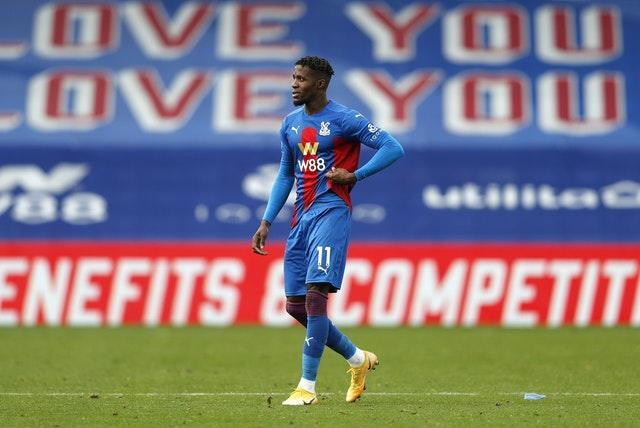 Wilfried Zaha had to sit the game out for Palace
