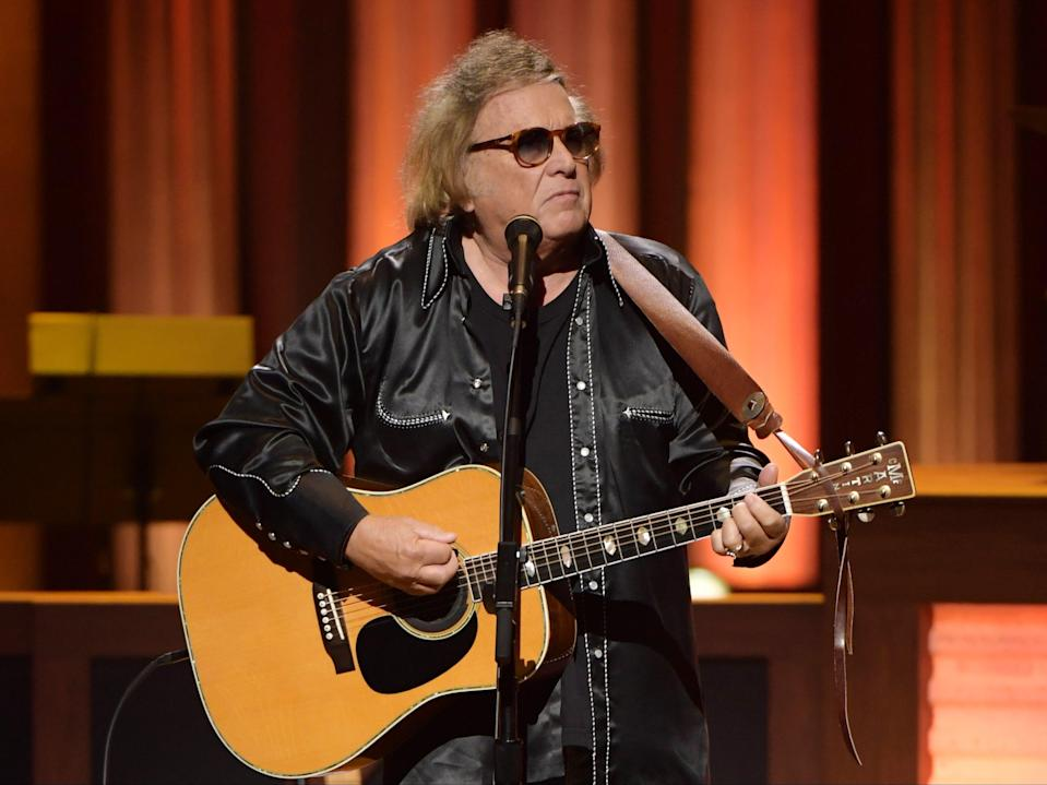 Don McLean performs at the Grand Ole Opry in Nashville, Tennessee, on 5 February 2020 (Jason Kempin/Getty Images)