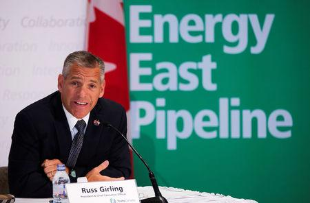FILE PHOTO: TransCanada President and CEO Girling announces the new Energy East Pipeline during a news conference in Calgary
