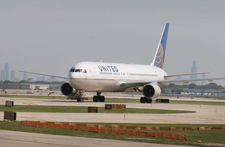 United Airlines plan on tarmac