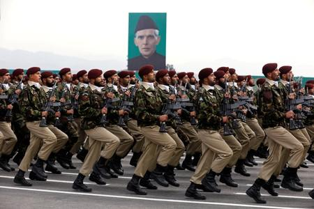 FILE PHOTO: Commandos from the Special Services Group (SSG) march during Pakistan Day military parade in Islamabad