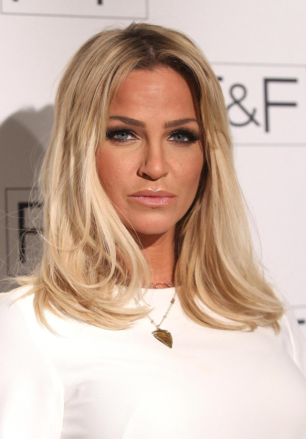 LONDON, ENGLAND - APRIL 21:  Sarah Harding attends The F&F AW15 show at The Savoy Hotel on April 21, 2015 in London, England.  (Photo by Danny Martindale/WireImage)